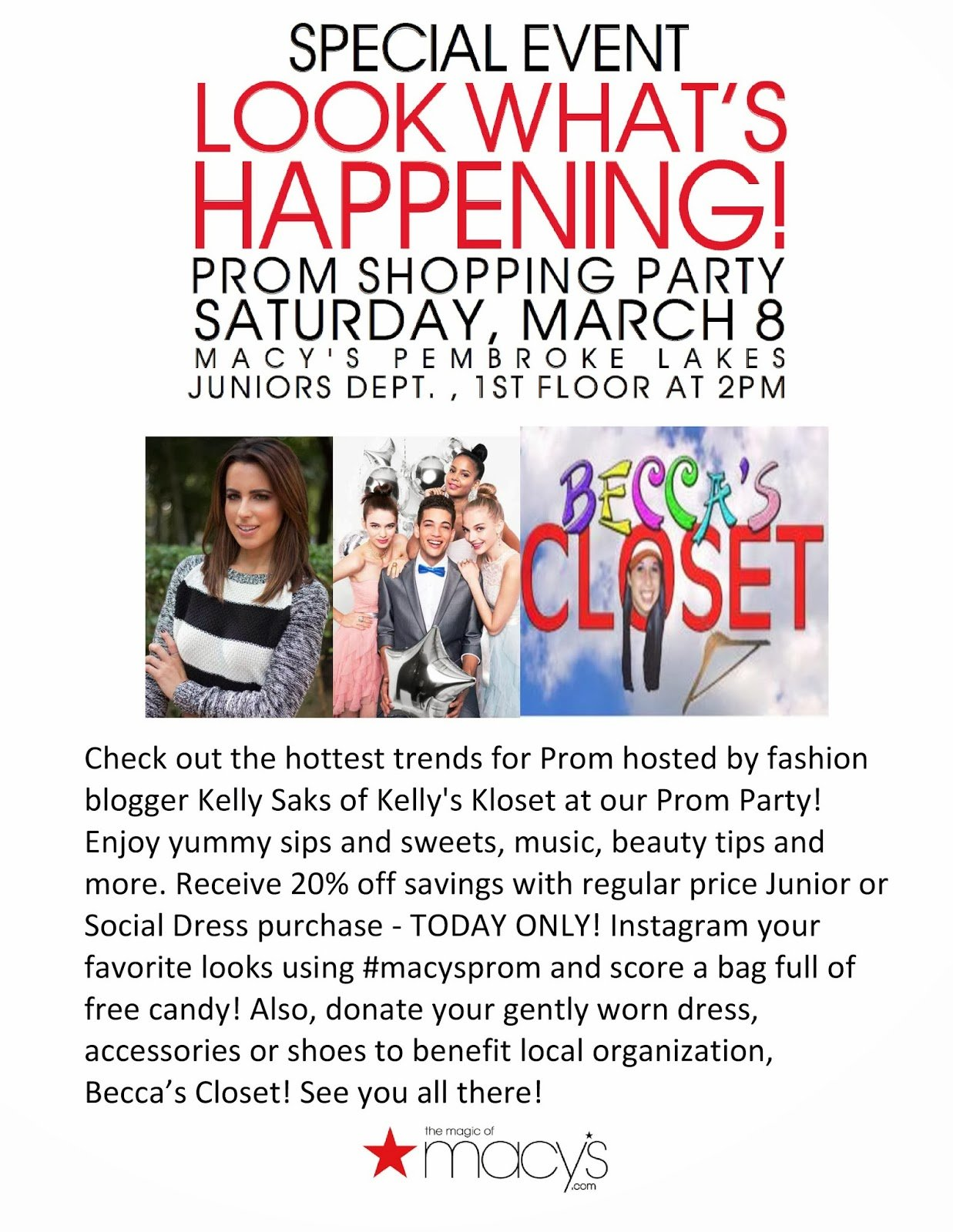 Celebrate Prom 2014 at Macy's Pembroke Lakes this Saturday