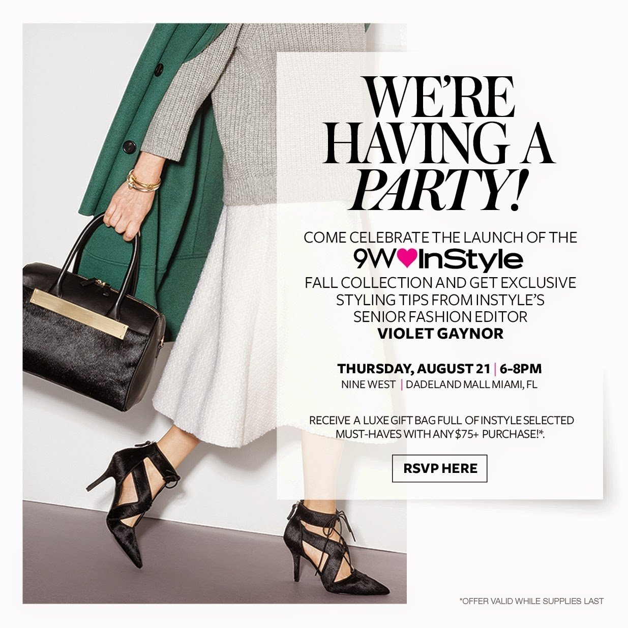 Nine West & InStyle Magazine Launch Party at Dadeland Mall