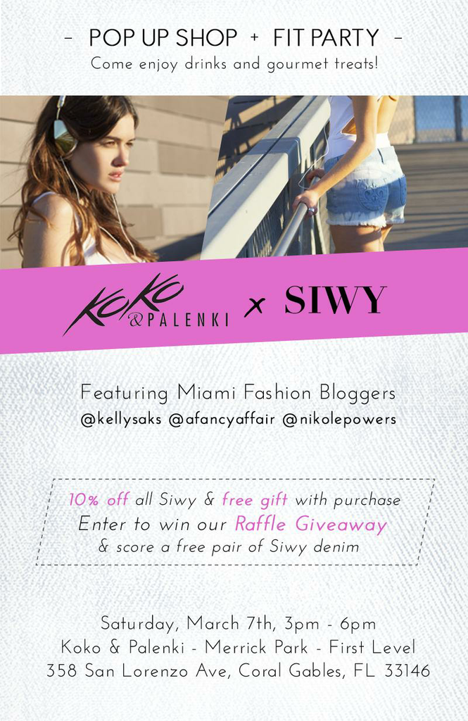 Siwy Denim Pop-Up Shop at Koko & Palenki (Win a pair of Jeans!)