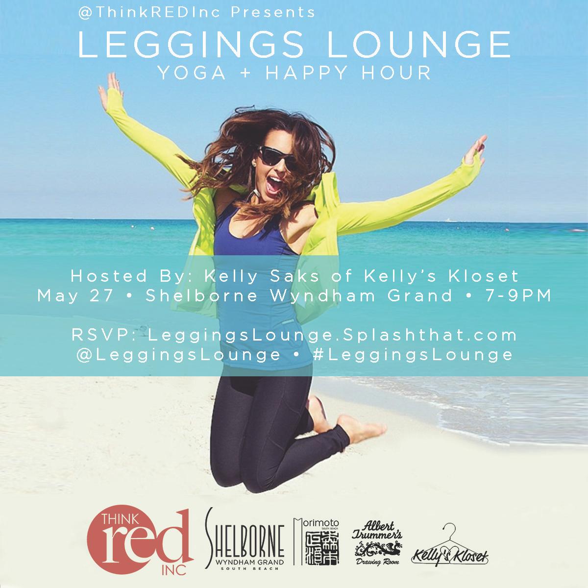 Leggings Lounge: Yoga + Happy Hour at Shelborne South Beach
