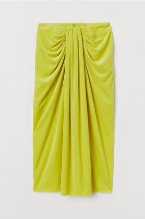 Neon Draped Skirt