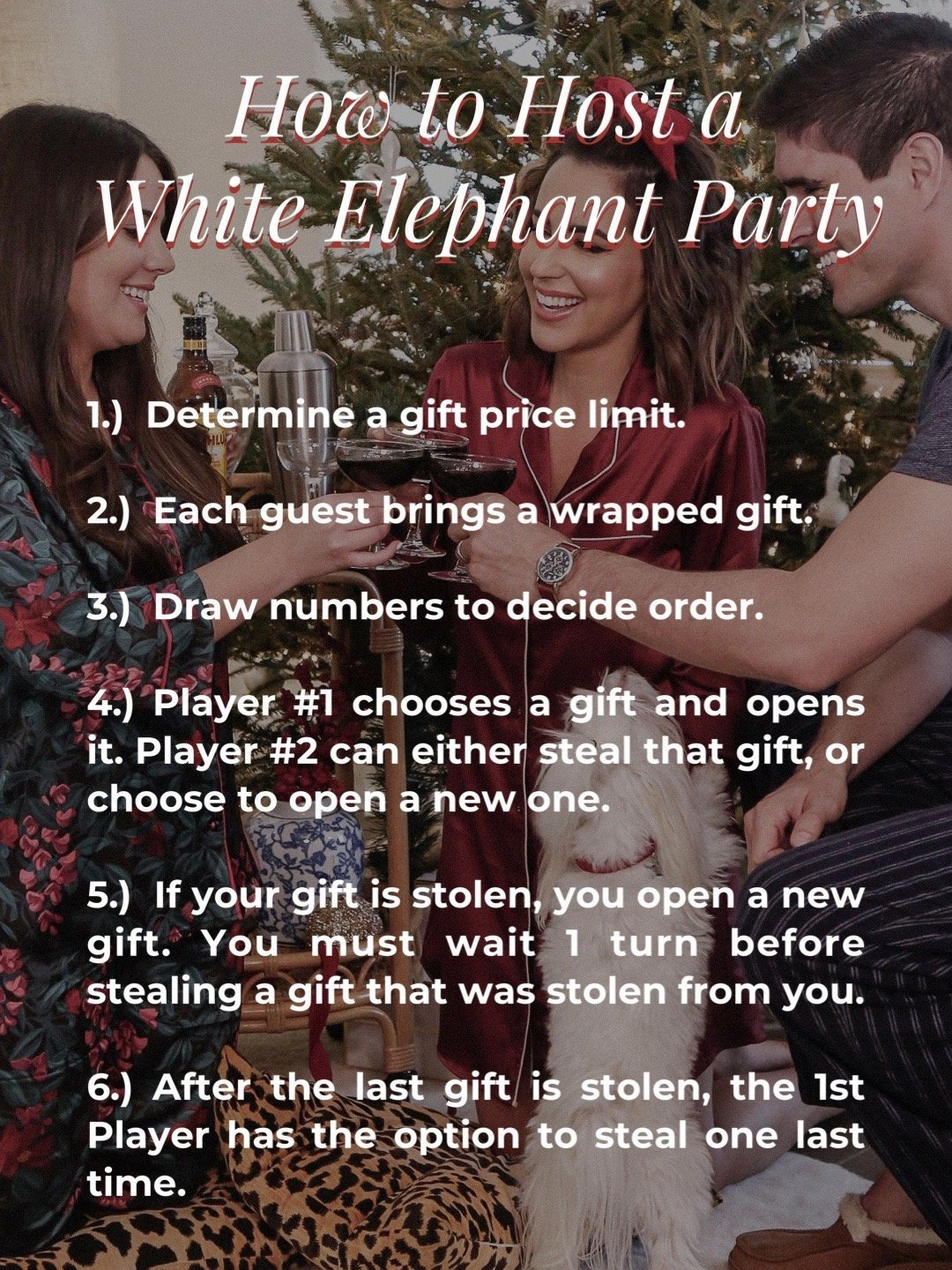 rules for hosting a white elephant gift exchange party