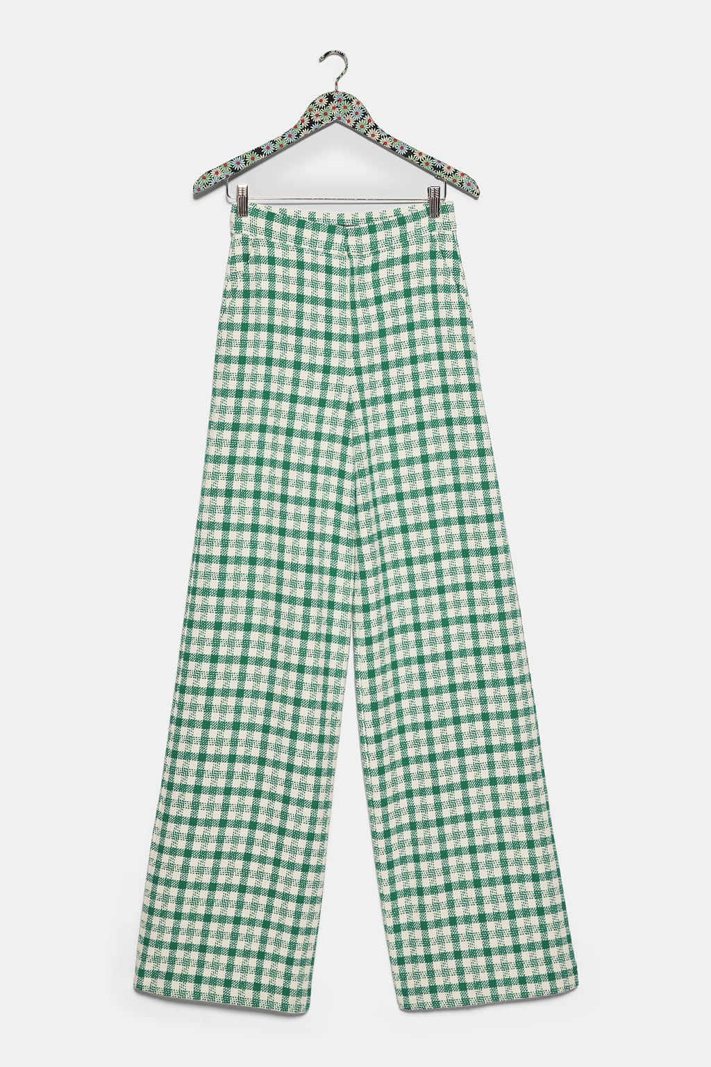gingham tweed pants