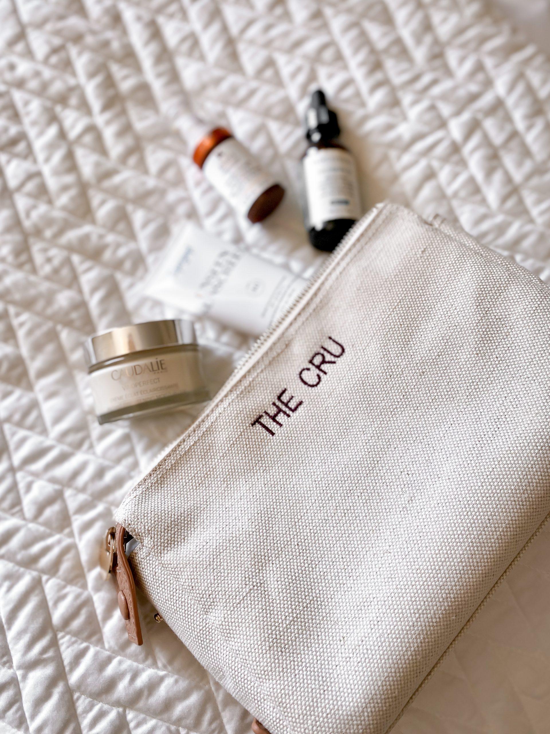 skincare bag spill
