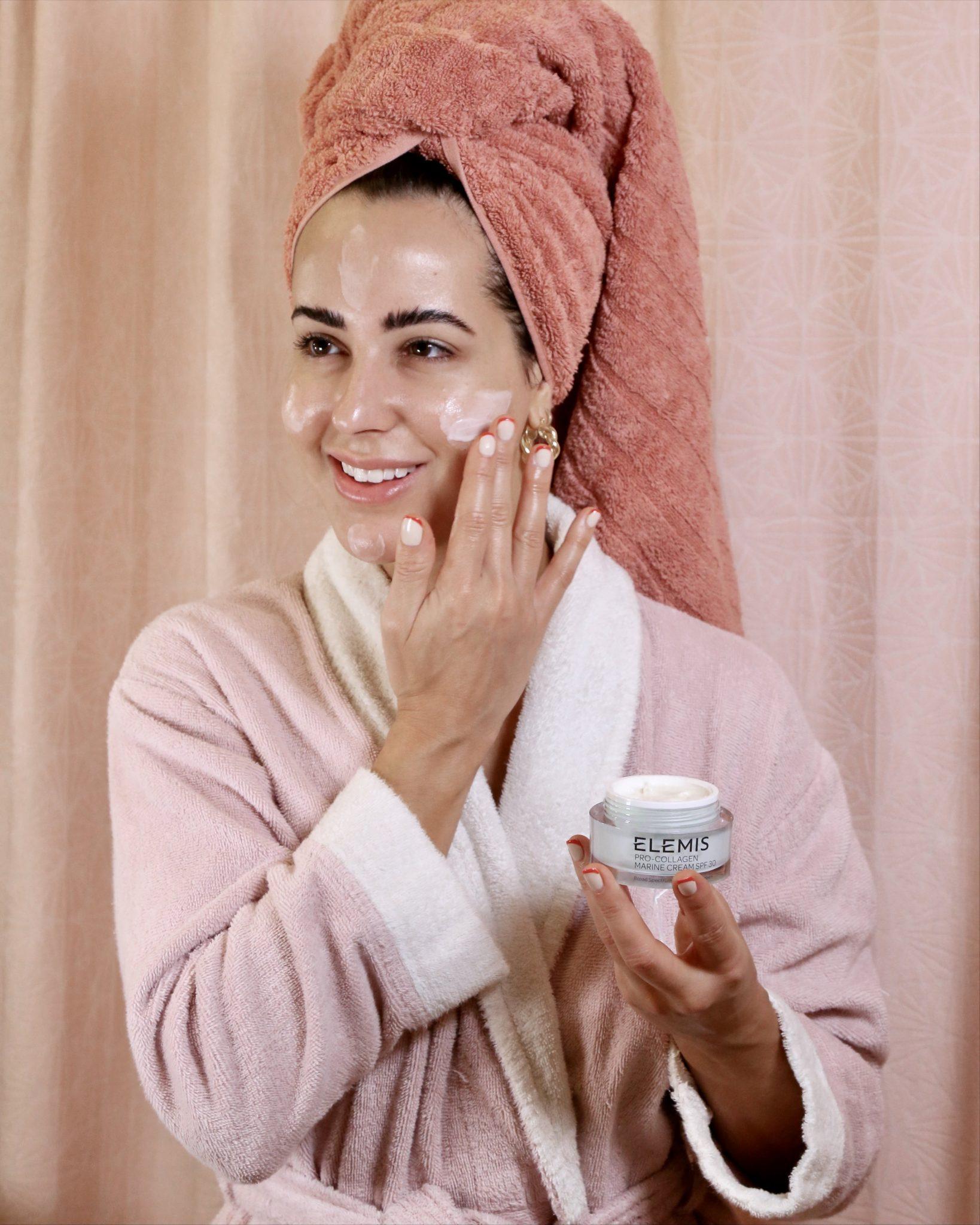 kelly saks uses elemis marine cream as part of her winter skincare routine