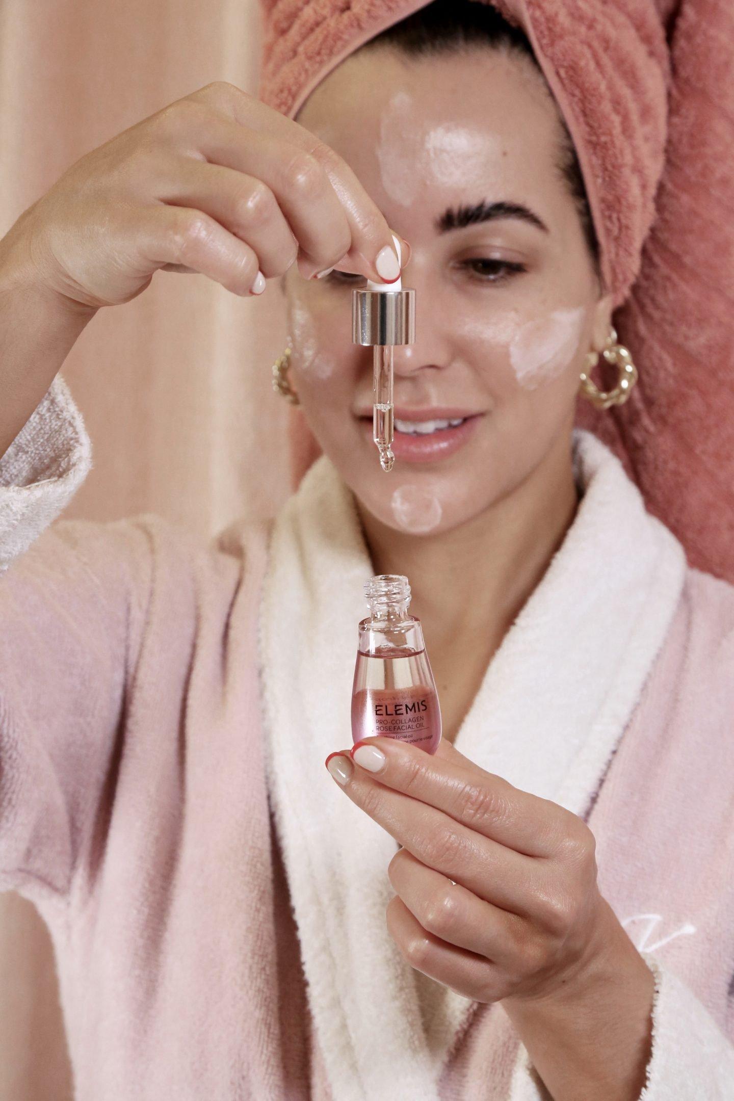 elemis rose oil skincare routine